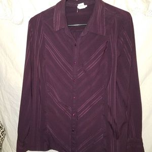 East 5th purple blouse size XL
